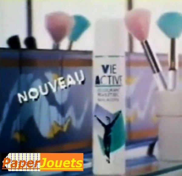 PUB 80's____ Le déodorant VIE ACTIVE (1976-1994)