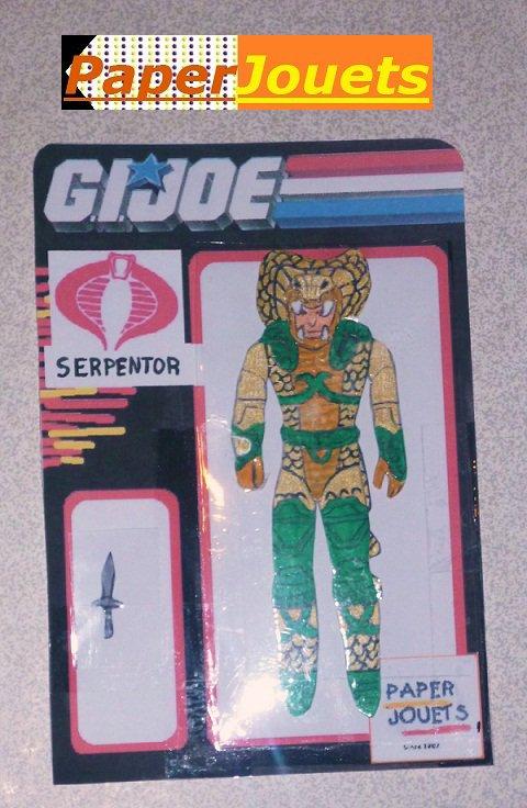 Paperjouets GI°JOE___Général Serpentor (Ennemi)
