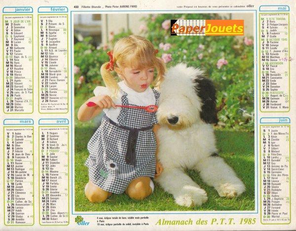 Objets 80s____Le calendrier des Postes (ici 1985)