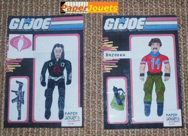 GI°JOE Paperjouets___BARONESS (Cobra Ennemi) et BAZOOKA (GI°Joe)