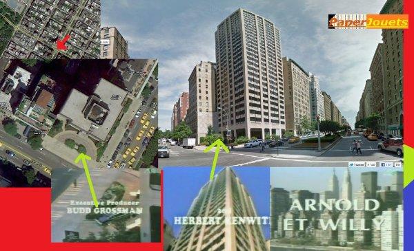 """Paperjouets vous montre___ """"Arnold & Willy""""  L'immeuble de l'appart' Drummond"""