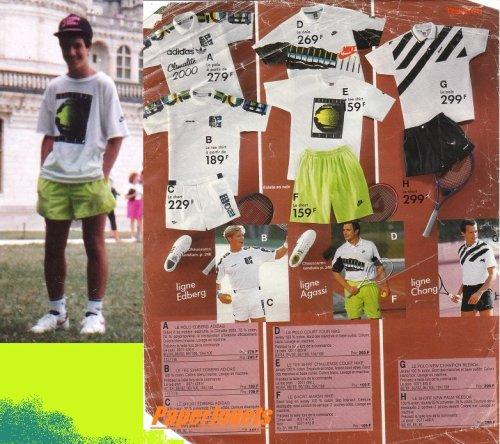 MODE sport pour les jeunes...saison 90/91... (catalogue CAMIF)