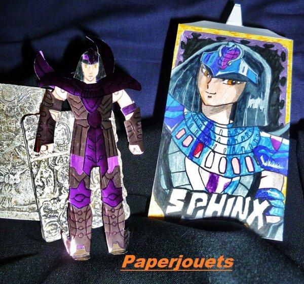 CDZ Paperjouets N°99___ Pharaon du Sphinx, de l'étoile de la Bête