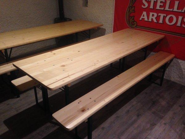 location tables banc set forain