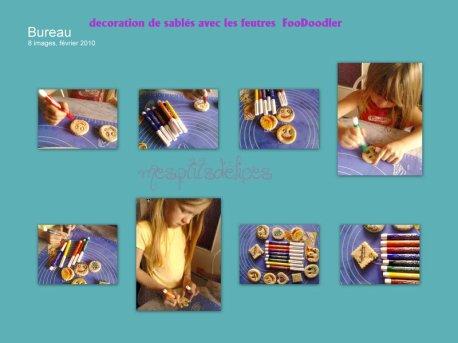 Decoration de sablés par mes filles !!! test de feutres