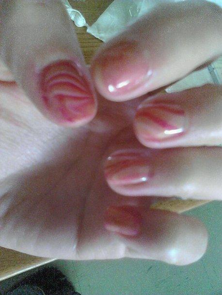 water marble , nail art