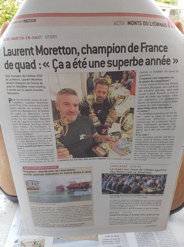 Un Champion de France à St Martin...