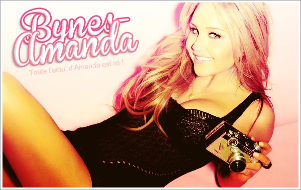 . Toute l'actualité de la magnifique Amanda Bynes est ici, sur Bynes-Amanda !.