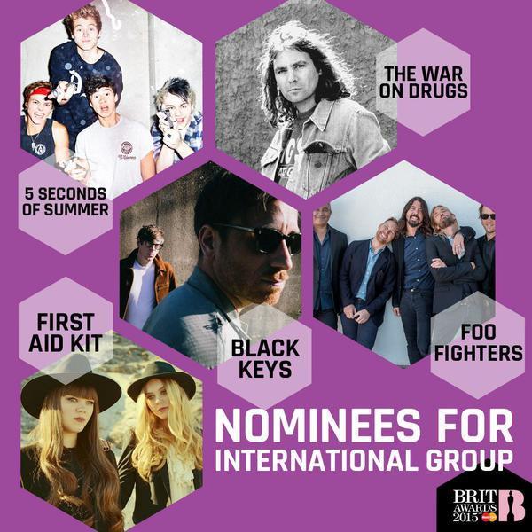 Le 16 janvier  Première nomination aux Brit Awards !