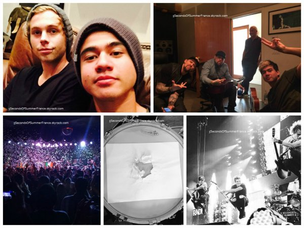 Le 20 mars Les garçons sont toujours en studio !