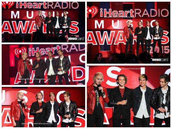 Le 30 mars Un prix aux iHeartRadio Awards pour les 5SOS !