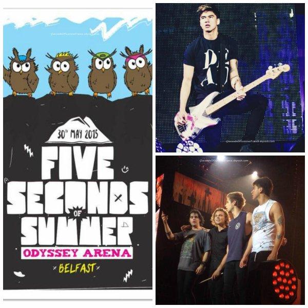 Le 30 mai 2015 Concert à Belfast ce soir !