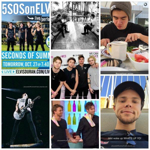 Le 27 octobre 2015 Les 5SOS sont à New-York !