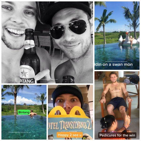 Le 30 décembre 2015 Les garçons profitent de leurs vacances !