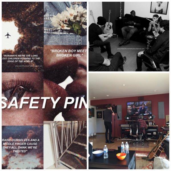 Le 24 mars 2016 Calum, Ashton et Luke étaient en studio !