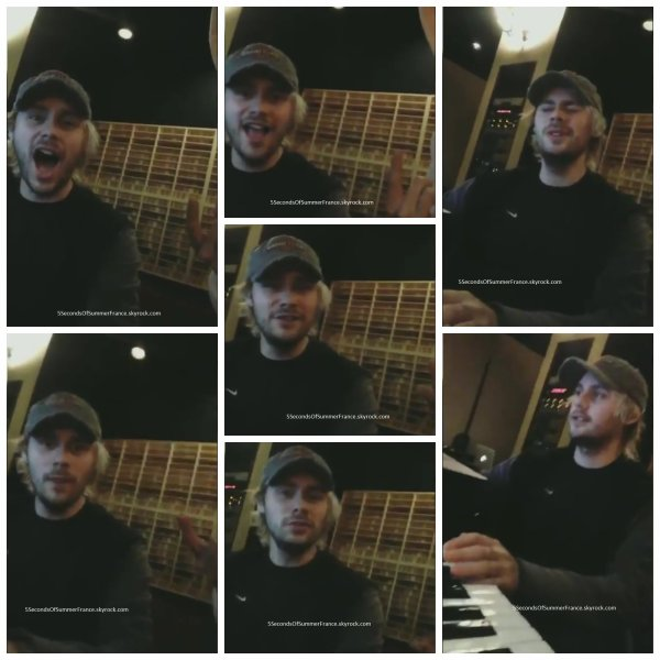Le 3 février 2017 Les 5SOS sont en studio !