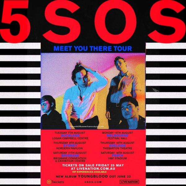 Le 21 mai 2018 Les 5SOS reprennent la tournée cette semaine !