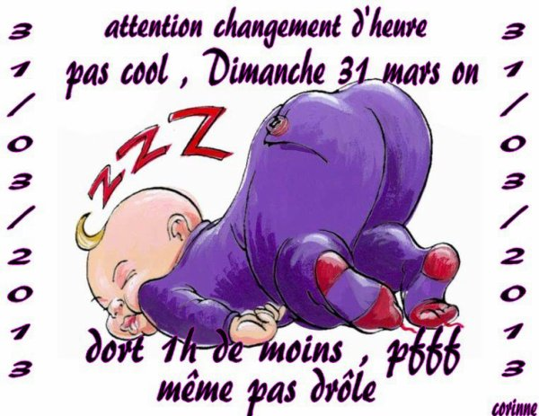 Non, on change d'heure !!!