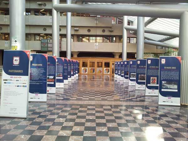 L'expo du Rfc Liege au CHU,un endroit tres approprié