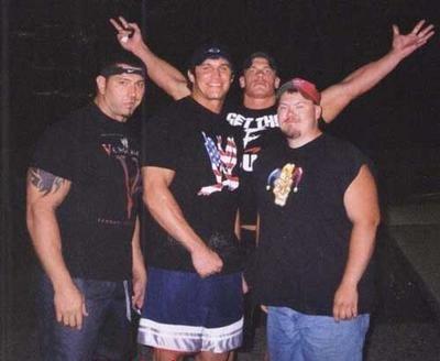 Batista, Randy Orton et John Cena