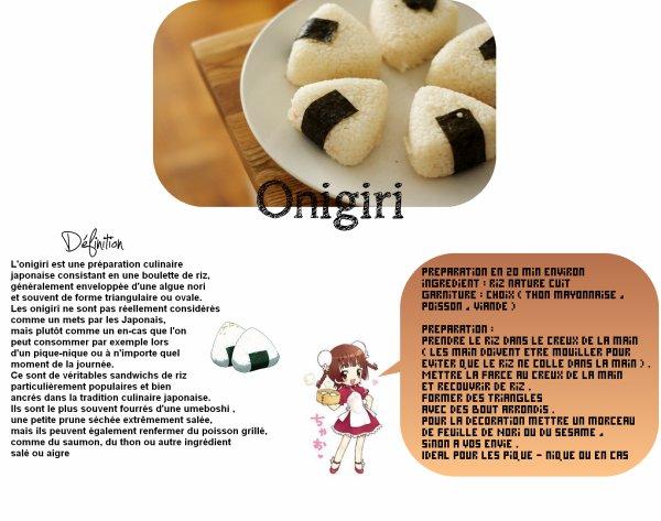 Recette Onigiri