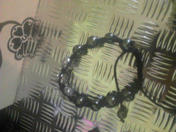 Shamballa bracelet gris
