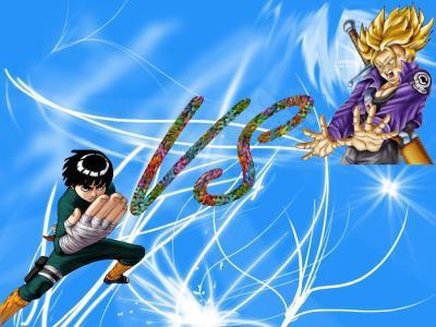 Rock Lee VS Trunk (du futur)