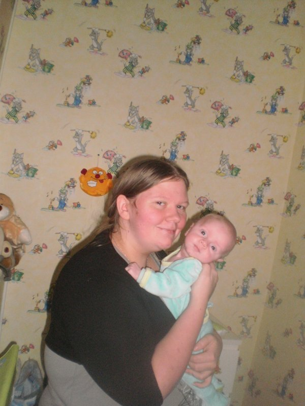 Moi et mon bebe agé de 1 mois et 11 jours (souvenir ♥♥♥♥♥)