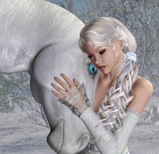la fée et le cheval