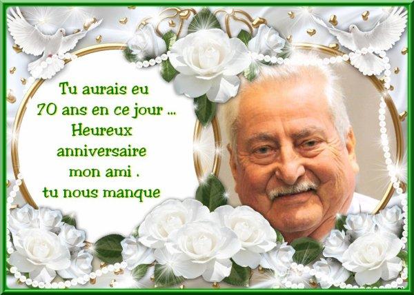 heureux anniversaire Paul  :(