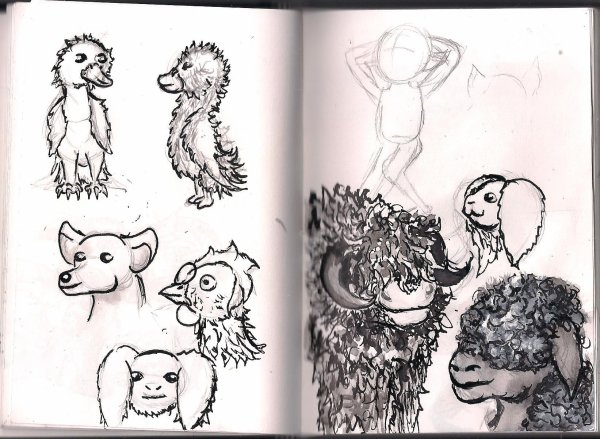 Sketch janvier/ février/ mars/ avril