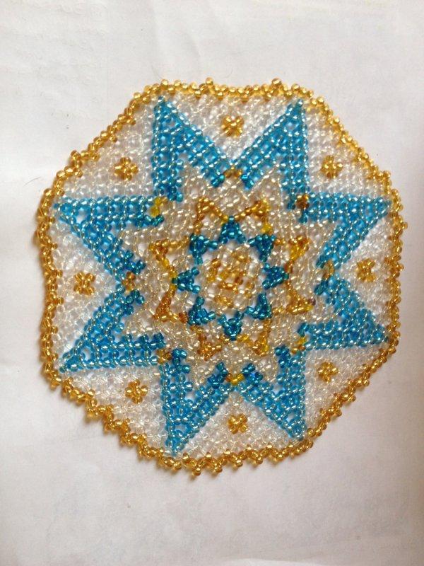 Un napperon en perle
