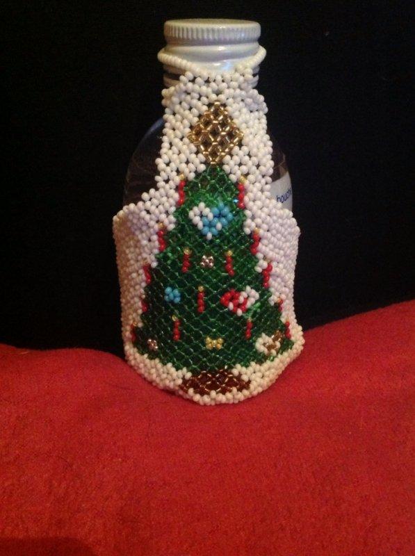 Mon petit tablier de Noël pour bouteille