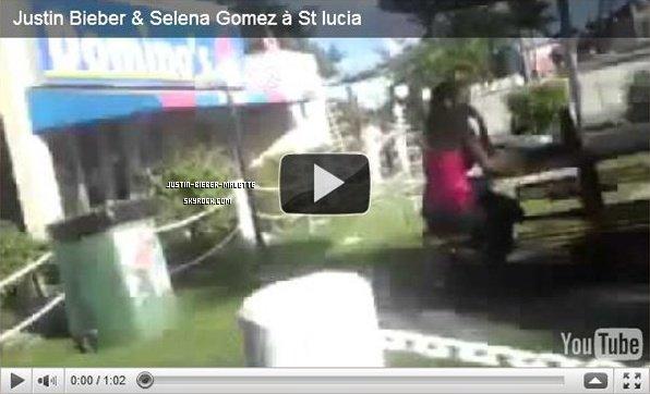 Justin Bieber avec Selena Gomez et Ryan Butler à St lucie