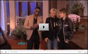 .  Justin à l'avant première de Never Say Never à Los Angeles. .