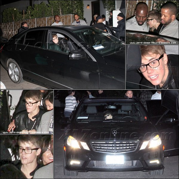 .   Justin s'est coupé les cheveux et on adore ! ;).  + Justin at Cecconi's in West HollyWood with Lil Twist & Alfredo