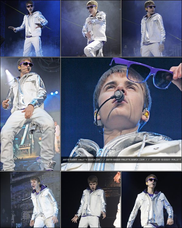 .  MY WORLD TOUR IS BACK - Découvrez les photos du show à Liverpool .