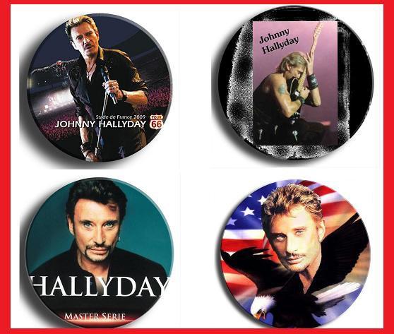 badge de johnny hallyday + de 200 a collectionner , contacter moi!
