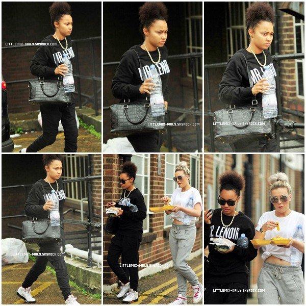 22/08/13 : Perrie, Leigh-Anne et Jade allant au studio à Londres.