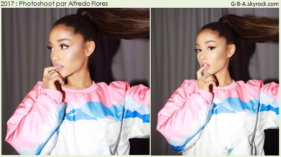 PHOTOSHOOT  : 29/03/2017. Ariana posant pour des photoshoots.   Elle a posée pour Alfredo Flores et pour Eric Ray Davidson.