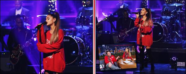""""""" -18/12/18 •- Ariana G. était invitée à l'émission  « The Tonight Show Starring Jimmy Fallon » dans New York City.C'est pour la toute première fois que la belle à interprété en live son dernier single en date, nommé « Imagine », une performance vraiment magnifique ! ."""