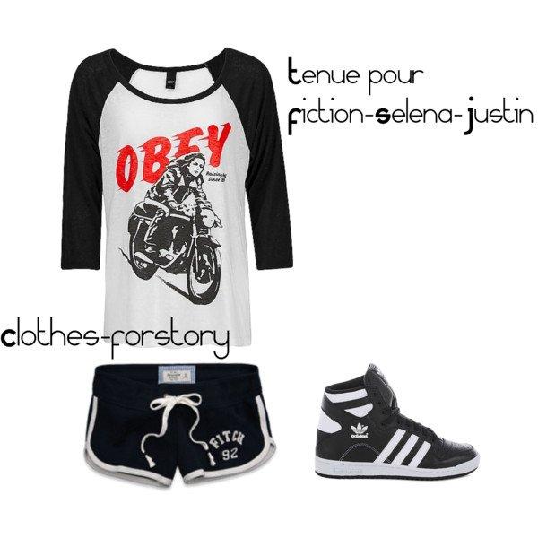 tenue pour Fiction-Selena-Justin