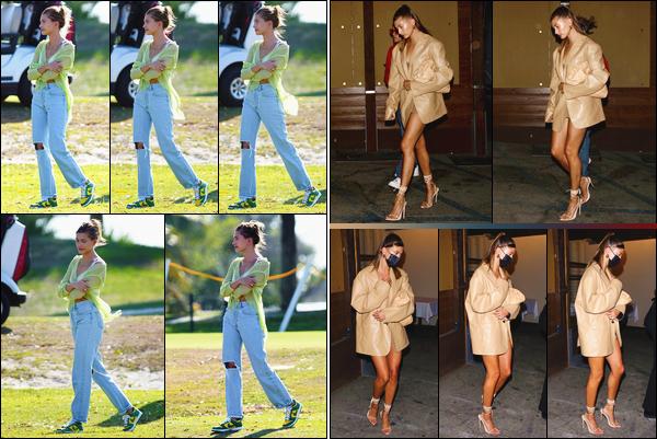 - ''-02/05/21-' : Hailey Bieber a été repérée sur le set du clip de Justin Biebr :« Let It Go »se déroulant à Miami. Le lendemain, c'est lorsqu'elle arrivait puis quittait le restaurant « Craig's » en compagnie de Justin que nous retrouvons notre Hails. Top ! -