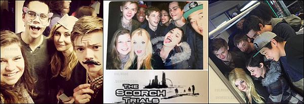 24/01/2015- Dylan O'Brien lors de la fête de fin de tournage de The Scorch Trial.