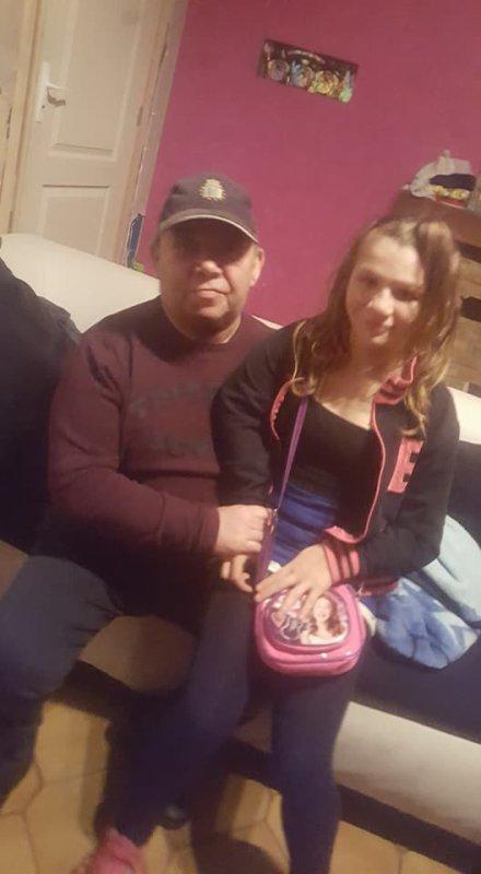 mon papa et ma fille oceane