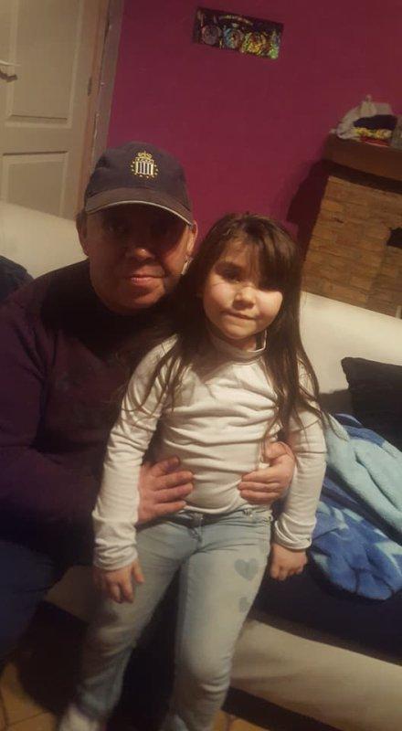 mon papa et ma fille kristal
