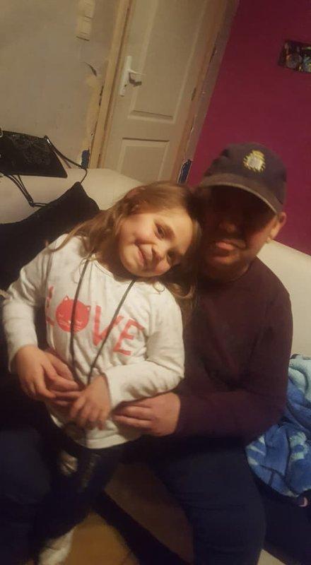 mon papa et ma fille lauryne