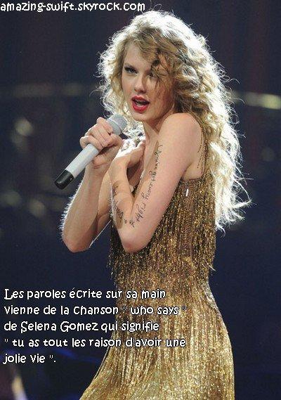*  le 21 mai : Taylor Swift donne un concert pour recolter des fond