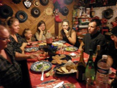 quelques fotos de ceux que j'aime pendant le repas de noel