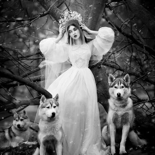 mariée à la nature